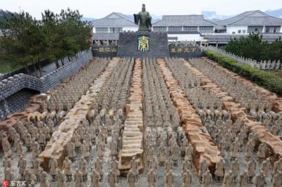 Toàn cảnh hầm mộ địa táng nơi an táng của Hoàng đế Tần Thủy Hoàng
