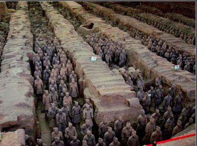 Hầm mộ binh mã được khai quật