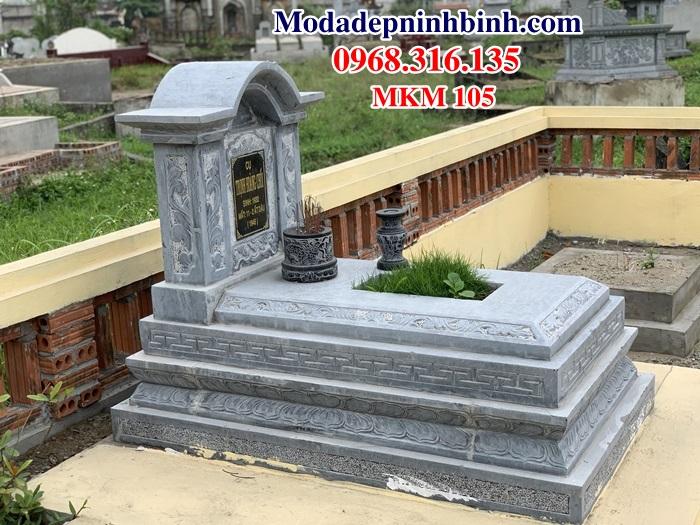 30 mẫu khu lăng mộ gia đình dòng họ bằng đá xanh ninh bình đẹp mkm 105