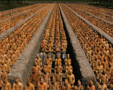 Lăng mộ Tần Thủy Hoàng ở Trung Quốc.
