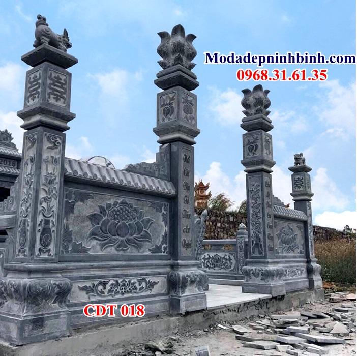 Cột đồng trụ đá nhà thờ vuông hoa cương đẹp 018