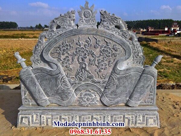Cuốn thư đá lăng mộ 044