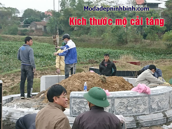 Kích thước mộ cải táng, kích thước đào huyệt mộ cải táng