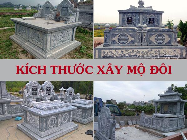 Kích thước xây mộ đôi, kích thước mộ đá đôi phong thủy thước Lỗ Ban