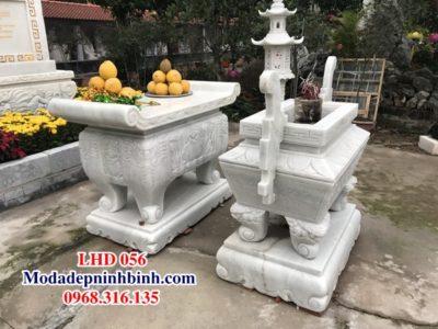 Lư đỉnh hương đá đình chùa LHD 056