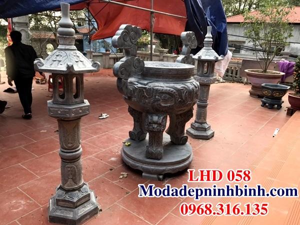 Lư đỉnh hương đá đình chùa LHD 058