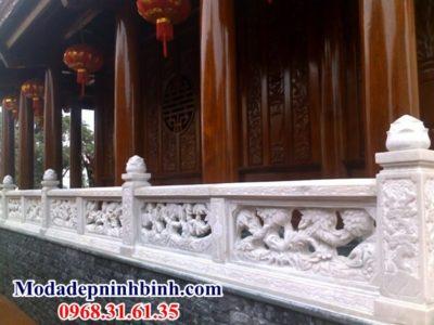 Lan can thông phong đá trắng Hà Nội 051