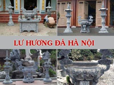 Lư hương đá Hà Nội - bán lư hương đá tại Hà Nội - giá lư hương đá, đỉnh hương đá, đèn đá, hạc đá.