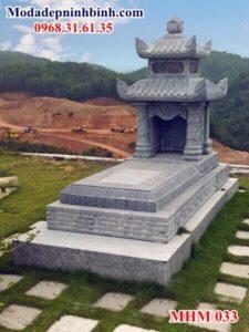 Mẫu lăng mộ đá đẹp 2 mái 033