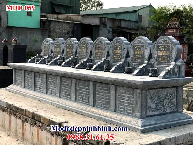 Mẫu mộ đá đôi 059