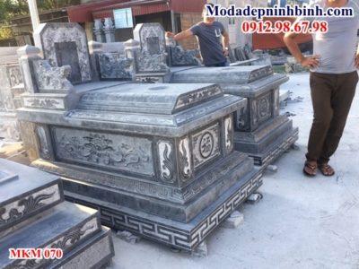 Mẫu mộ đá hậu bành không mái đẹp 070