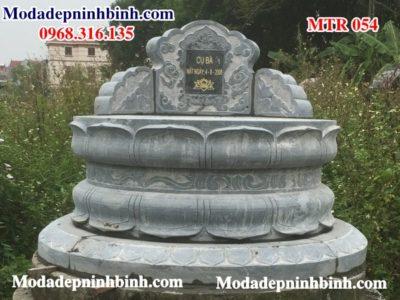 Mộ đá hình tròn đẹp MTR 054