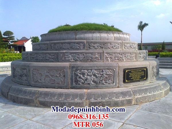 Mộ đá hình tròn đẹp MTR 056