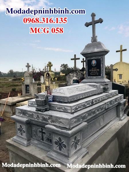 Mộ đạo công giáo đá xanh MCG 058