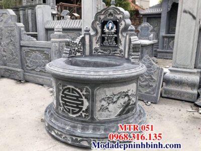 Mộ tròn đá đẹp mo tron da dep MTR 051