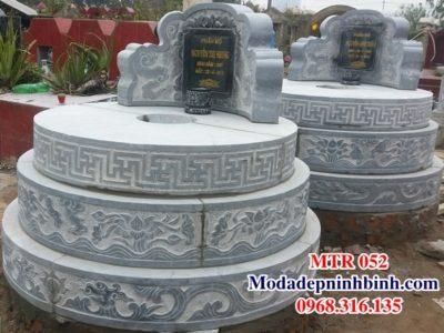Mộ tròn đá đẹp mo tron da dep MTR 052