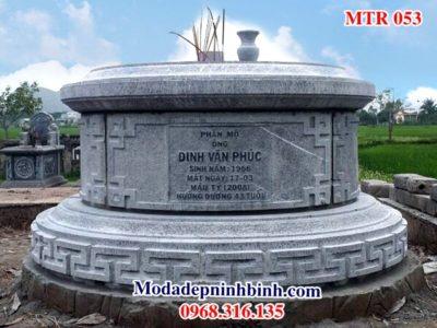 Mộ tròn đá đẹp mo tron da dep MTR 053