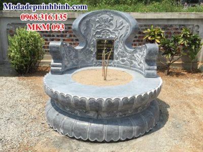 Mộ tròn đá hoa sen MKM 093