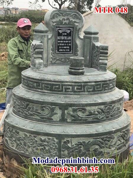 Mộ tròn đá khối 048