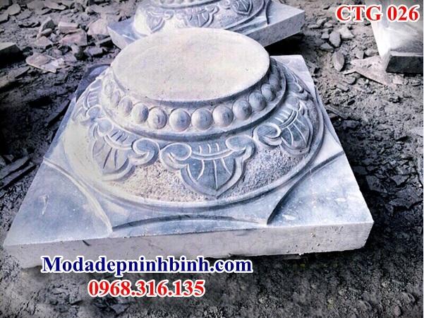 Mẫu chân tảng đá kê cột 026