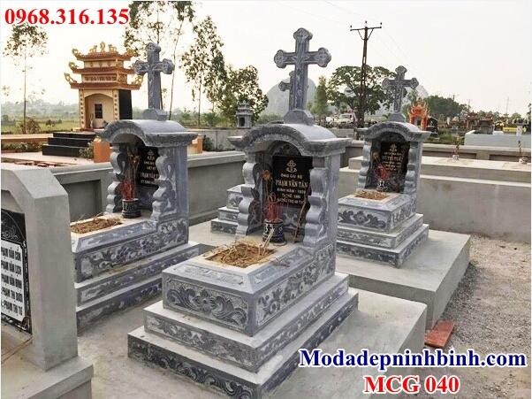Mẫu mộ đá thiên chúa giáo 040
