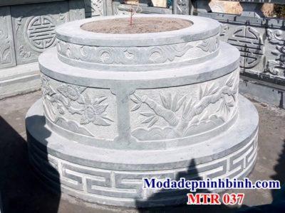 Mẫu mộ đá tròn 037