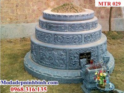 Mẫu mộ tròn đá đẹp 029