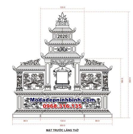 Bản thiết kế mộ đôi đá 068