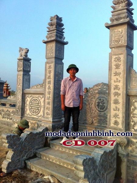Câu đối cột cổng đá khu lăng mộ