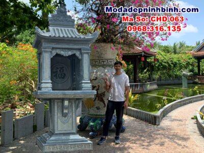 cây hương miếu thờ đá lắp tại An Giang