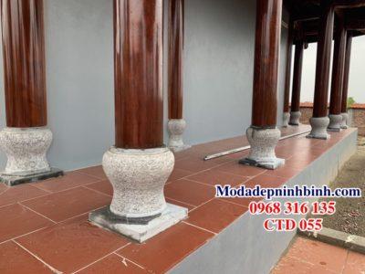 Chân tảng đá kê cột trụ nhà gỗ 055
