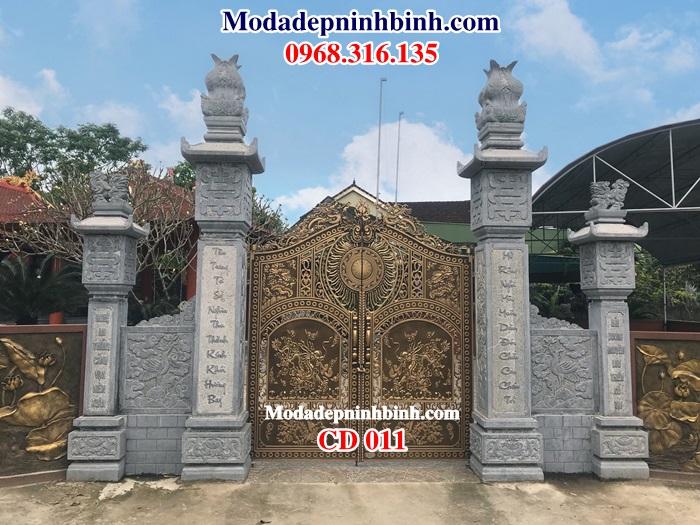 cổng đá nhà thờ họ là sản phẩm đại điện cho nhà thờ, cho dòng họ