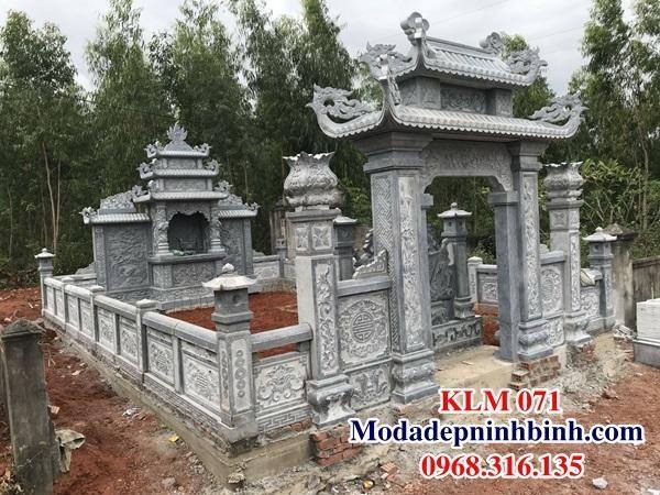Hoàn thiện khu mộ đá đẹp cho anh Phát tại Quảng Bình