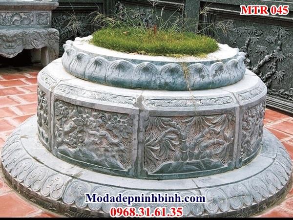 Kích thước mộ tròn đá đẹp