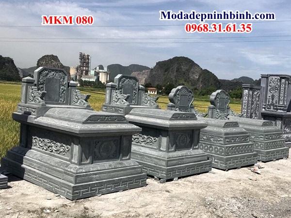 lăng mộ đá đẹp ninh bình thanh hóa nguyên khối xanh rêu mkm 080