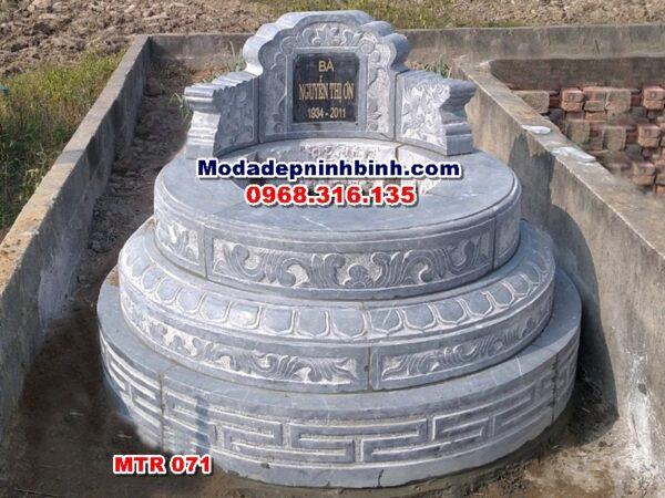 lăng mộ tròn đá xanh nguyên khối mtr 071