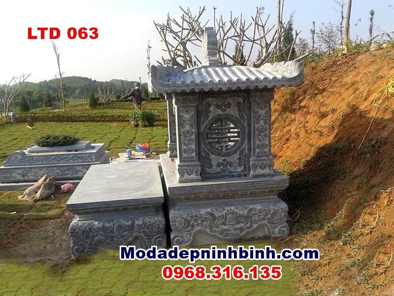 Lăng am thờ đá 1 mái thấp tại Lạc Hồng Viên Hòa Bình