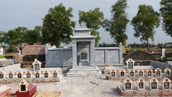 Lăng thờ đá khu mộ gia đinh tại Nghệ An
