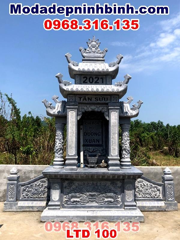 Lắp lăng thờ đá xanh nguyên khối tại Chi Nê Lạc Thủy Hòa Bình