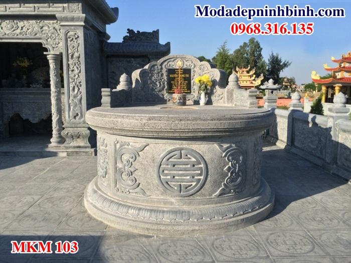 Mẫu mộ đá đẹp mau mo da dep MKM 103