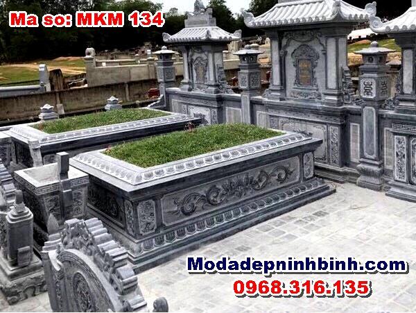 mộ đá đẹp ninh bình mkm 134