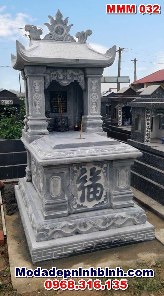 Mộ đá một mái đẹp Ninh Bình nguyên khối MMM 032