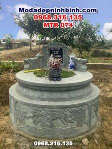 mộ-đá-xanh-rêu-hình-tròn-bắc-ninh-mtr-074