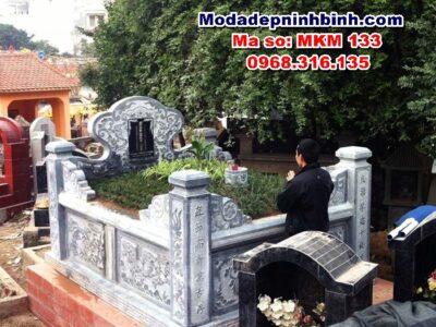 mộ tổ hậu bành tam sơn đá đơn giản mkm 133