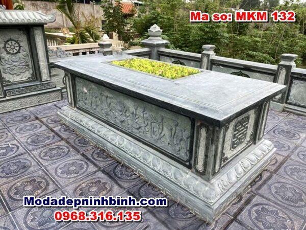 mộ tổ hậu bành tam sơn đá xanh rêu mkm 132
