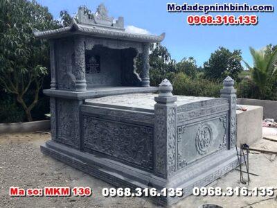 mẫu lăng mộ đá đẹp tiền giang mkm 136
