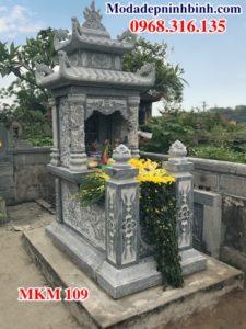 Mẫu mộ đá đẹp 2 mái MKM 109