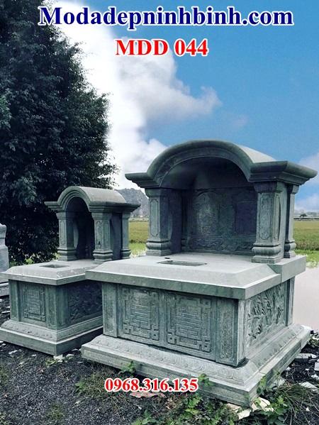 Mẫu mộ đá đôi 044