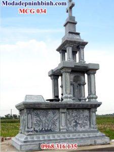 Mẫu mộ đá thiên chúa giáo 034