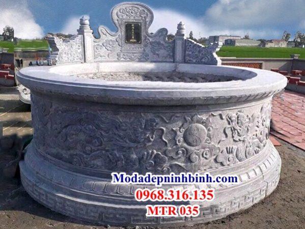 Mẫu mộ đá tròn 035